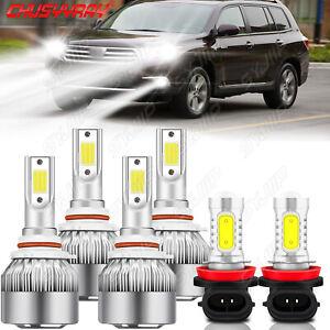 For Toyota Highlander 2011-2018 2019 Combo 6x LED faro alto/bajo+luz antiniebla