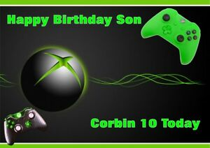 personalised birthday card xbox  any name/age/relation.