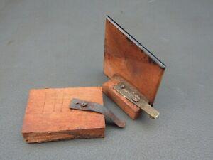Antique or vintage writing slope secret drawer face plate catch & spring
