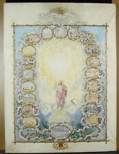 Emma ROBERTS aquarelle c1850 blason chevron couronne croix d Malte à identifier
