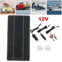 Home 12V Solar Car Battery Charger Portable Solar Power Panel Backup F/ RV Boat