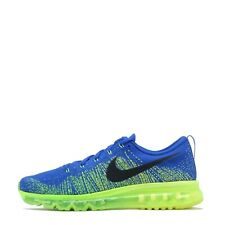 Nike Flyknit Max Men's Running Shoes Trainers Blue/ Electric Green