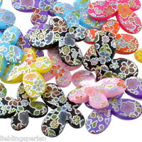 L/P: 20 Mix Schmetterling Acryl Spacer Perlen Beads Basteln 29x22mm