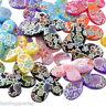 L/P: 20 Mix Schmetterling Acryl Spacer Perlen Beads Basteln 29x22mm