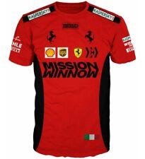 New Scuderia Ferrari T Shirt Mission UPS Kaspersky Shell Italy Formula 1 Racing