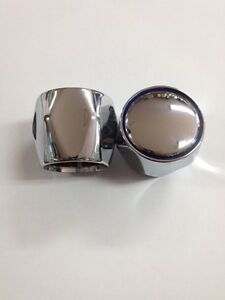 Tap Top/Head Chrome Plated Brass (HOT & COLD) Pair With 24 Spline