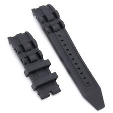 Band for Invicta Pro Diver 6981, 6983, 6977, Black Silicone Rubber Strap 26mm