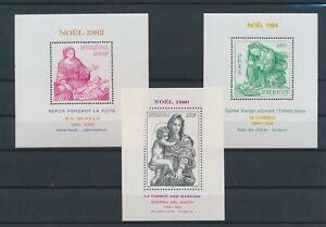 LN82655 Rwanda 1980 -1984 christmas holidays sheets MNH