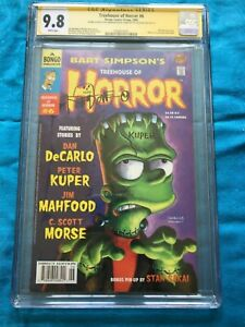 Treehouse of Horrors #6 (9.8), #7(9.8), #8 (9.6) Bongo - CGC SS -All multisigned