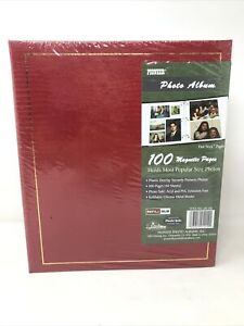Pioneer LM-100 Binder Magnetic 3-ring Photo Album 100 Magnetic Pages - Red