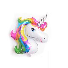 2PCS Unicorn Large Rainbow Foil Helium Balloon Children Birthday Party Decor FR
