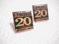 OAK TREE 20th AT SANTA ANITA 1969 - 1988 ~ 2 PINS.