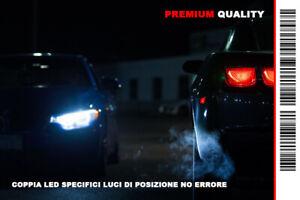 """COPPIA 2 LAMPADINE LED BIANCO GHIACCIO POSIZIONI """"ALFA ROMEO GT"""" (2003-2010)"""