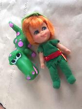 Vintage Liddle Kiddles PETER PAN PANIDDLE Storybook Doll And Pet Mattel 1960s