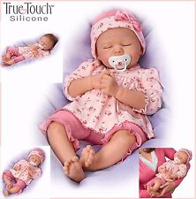 Ashton-Drake Silicone Baby Girl Doll Penelope Weighted - Rooted Hair
