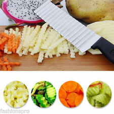 Potato Wavy Edged Knife Stainless Steel Kitchen Gadget Vegetable Cutting HOT