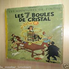 TINTIN Les 7 Boules de Cristal Ancien Album EO BD couleur Hergé B2 1948 Hergé ❤