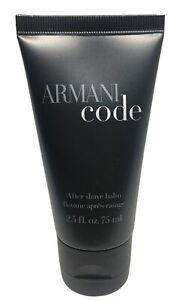 New Armani Code After Shave Balm For Men Giorgio Armani 2.5 Fl 75 ML