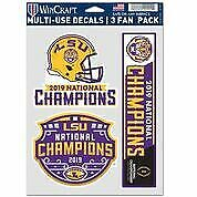 "LSU Wincraft 2019 National Championship Fan Pack Decals 5.5"" x 7.5"""