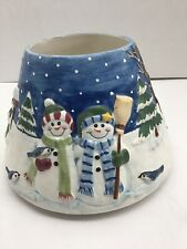 Snowman Large Jar Candle Shade PAC