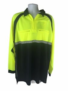 BLAUER Colorblock Performance L/S Shirt Police 8143 Hi-Vis Yellow 2XLT NWT!
