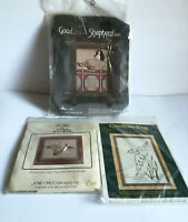 Lot Of 3 Counted Cross Stitch & Candlewicking Kits Duck Decoys Birds Goose NEW