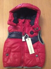 Diesel Kids Puffer Style Gilet Red/grey (suits 3 Months) Rrp £119