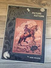 Craftool Leather Picture Pattern 6006 The Cattleman On Horse Gene Noland Work
