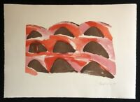 Silke Leverkühne, 9 Hügel, Farblithographie, 1994, handsigniert und datiert