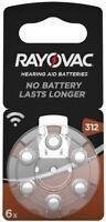 60 x Rayovac Acoustic Special Hörgerätebatterien 312 60er Pr41 Farbe Braun 1,45V