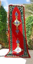 "Old Moroccan Rug vintage Carpet Kilim Berber Handmade Boucheroui 11' x 2'6"""