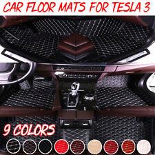 Custom Waterproof Car Floor Mats Black Heavy Duty Rubber Floor Mats For Tesla