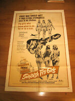 Swedish Fly Girls Orig,1sh Movie Poster '72 AIP, free-flying stewardesses,