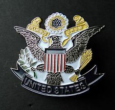 THE GREAT SEAL OF THE UNITED STATES CUT OUT HAT JACKET BADGE PIN 1.75 INCHES