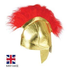 Adult Roman Centurion Helmet Men Gladiator Fancy Dress Hat Spartan Warrior H3625