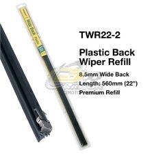 "TRIDON WIPER PLASTIC BACK REFILL PAIR FOR Daihatsu Charade-G10 04/80-03/83  22"""