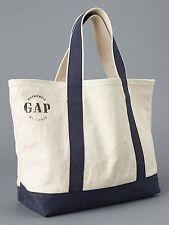 NEW GAP Cotton Canvas Blue Beach Pool Shopping Tote Handbag Utility Bag 2016