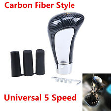 Car Universal Carbon Fiber Style Manual Gear Stick Shift Knob Shifter 5 Speed