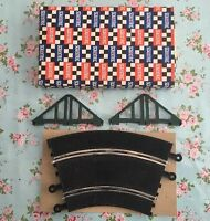 Rare 1960s Scalextrix Vintage Boxed Complete Pt93 Banking Curve Track & Supports