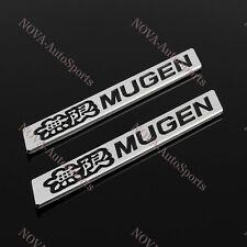 2PCS Car Trunk 3D Emblem Badge Sticker Decal MUGEN Black for HONDA CIVIC ACURA