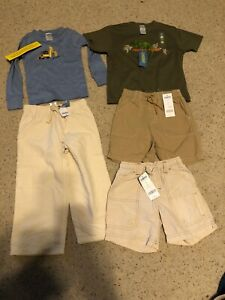 Lot Gymboree Boys Shirts Shorts Pants  sz 3T 3 Reptile Tractor Iguana 5 Pieces