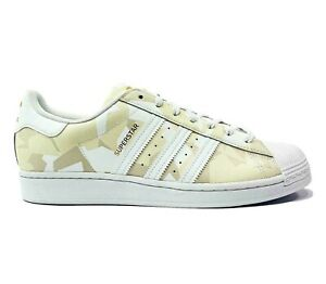 adidas Superstar Lace Up Mens Sneakers Shoes Casual White Gold Size 10.5 US NWOB