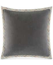 "Martha Stewart Whim Unity Gray Cotton 18"" Square Decorative Pillow Bedding H1076"