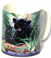 Panther And Cub Coffee Tea Mug Ideal Gift For Big Cat  Enthusiast