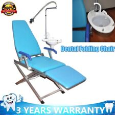 Dental Portable Folding Chair Unit w/ Water supply system w/ Cuspidor Tray + LED