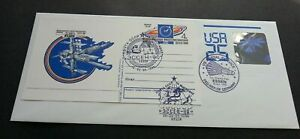 [SJ] USA - Russia Joint Issue Space Project 1990 Astronomy (joint FDC) *Hologram