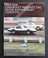 1953-1978 Chevrolet Presents the Silver Anniversary Corvette Dealer Brochure