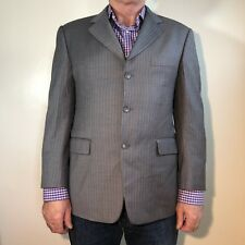 Burberry Kensington 42S Gray Pinstripe 3-button 2-vent Jacket Sport Coat Wool