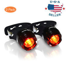 2 Set Led Bicycle Front Rear Tail Flash Light Helmet Safety Bike Warning Lamp
