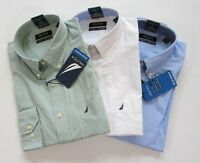 Nautica Mens Ocean Washed Regular Fit Dress Shirt 3 Colors Available